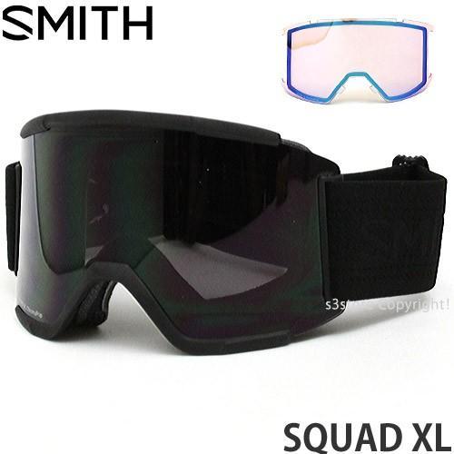 18model スミス スカッド XL ゴーグル SMITH SQUAD XL スノーボード 平面レンズ SNOW GOGGLE フレーム:BLKOUT レンズ:CP SUN BLK