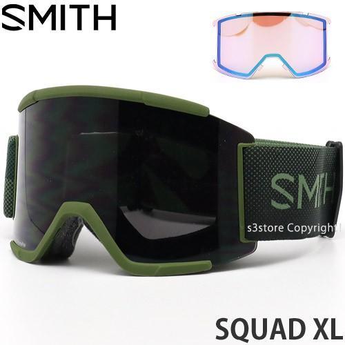 19model スミス スカッド エックスエル SMITH SQUAD XL ゴーグル スノー カラー:MOSS SURPLUS レンズカラー:CHROMAPOP SUN 黒