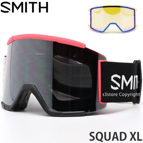 19model スミス スカッド エックスエル SMITH SQUAD XL ゴーグル スノー カラー:STRIKE レンズカラー:CHROMAPOP SUN PLATINUM MIRROR
