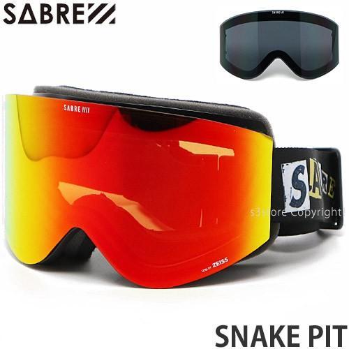 セイバー SABRE SNAKE PIT 20model ゴーグル スノーボード スノボー スキー フレーム:MT黒 Ransom レンズ:ZEISS Sonar 赤 Mirror