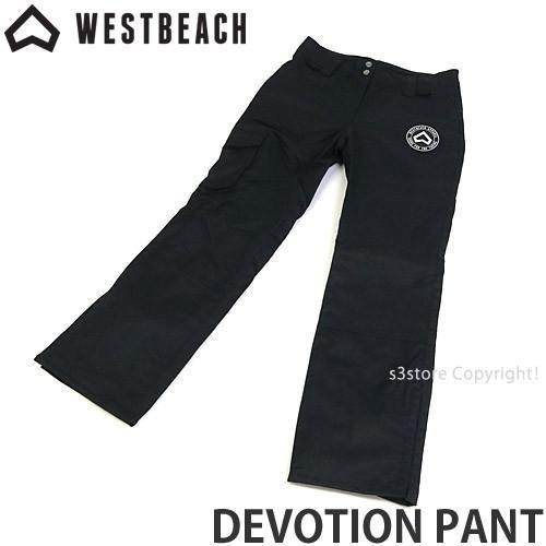 ウエストビーチ デボーション パンツ WESTBEACH DEVOTION PANT 国内正規品 スノーボード レディース 女性 ウエア ボトム SNOW カラー:黒