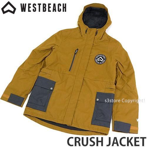 ウエストビーチ クラッシュ ジャケット WESTBEACH CRUSH JACKET 国内正規品 スノーボード レディース 女性 ウエア SNOW カラー:褐色 Sugar