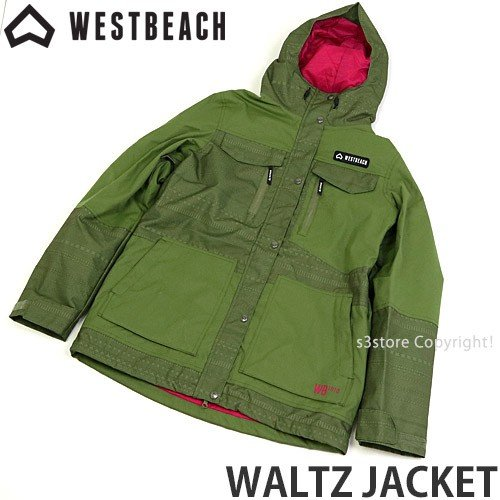ウエストビーチ ジャケット WESTBEACH WALTZ JACKET 国内正規品 スノーボード レディース 女性 ウエア SNOW カラー:Combat 緑 Fairisle