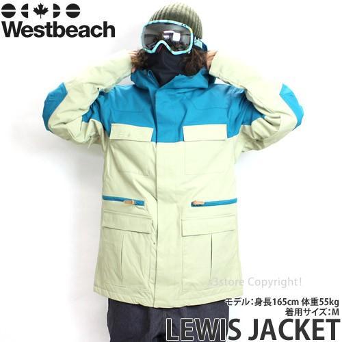 16 ウエストビーチ ルイス ジャケット ウエア Westbeach LEWIS JACKET 国内正規品 スノーボード スノボ メンズ ウェア WEAR MENS カラー:SEAWEED