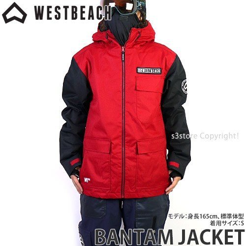 ウエストビーチ バンタム ジャケット WESTBEACH BANTAM JACKET 国内正規品 スノーボード スノボ メンズ ウエア SNOW カラー:Chilli 赤