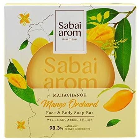サバイアロム(Sabai-arom) マンゴー オーチャード フェイス&ボディソープバー (石鹸) 100g【MAN】【001】|sabai-arom-store