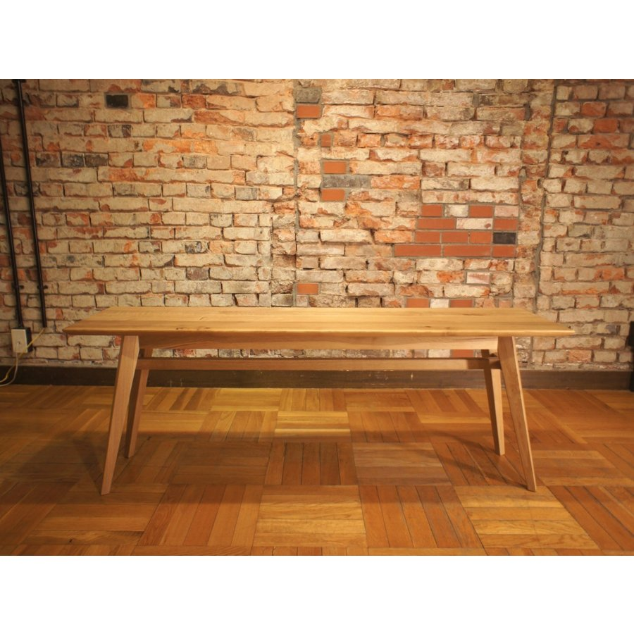 Living Table SA 幅144cm 選べる奥行2サイズ リビングテーブル ソファテーブル ナラ無垢材|sabisabi-web|03