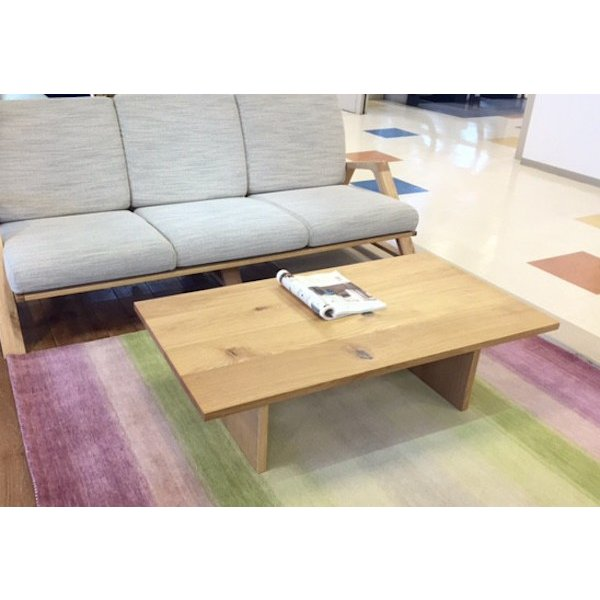 Low Table Torii 幅120cm ローテーブル 収納棚付き ナラ無垢材|sabisabi-web|03