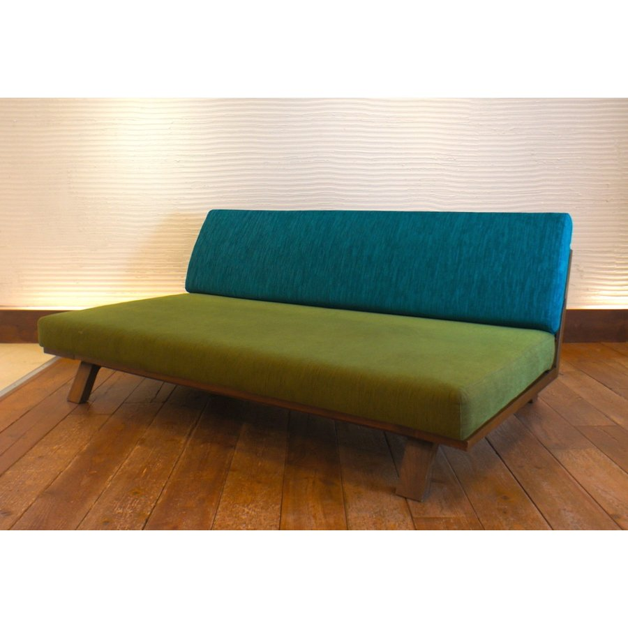 BM Sofa 3人掛けソファ 選べる背もたれフラットタイプ ローソファー ナラ無垢材|sabisabi-web