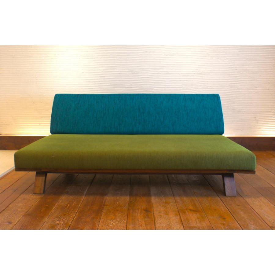 BM Sofa 3人掛けソファ 選べる背もたれフラットタイプ ローソファー ナラ無垢材|sabisabi-web|02