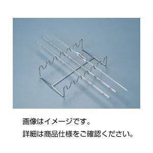 (まとめ)ピペットスタンド 水平置きタイプ ステンレス製 KP 〔×5セット〕