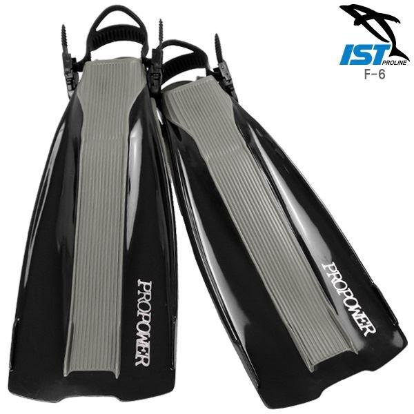 ダイビングフィン/足ひれ 〔ストラップ型 XLサイズ〕 ブラック ラバー 柔軟性 『PROPOWER ISTPROLINE F-6』