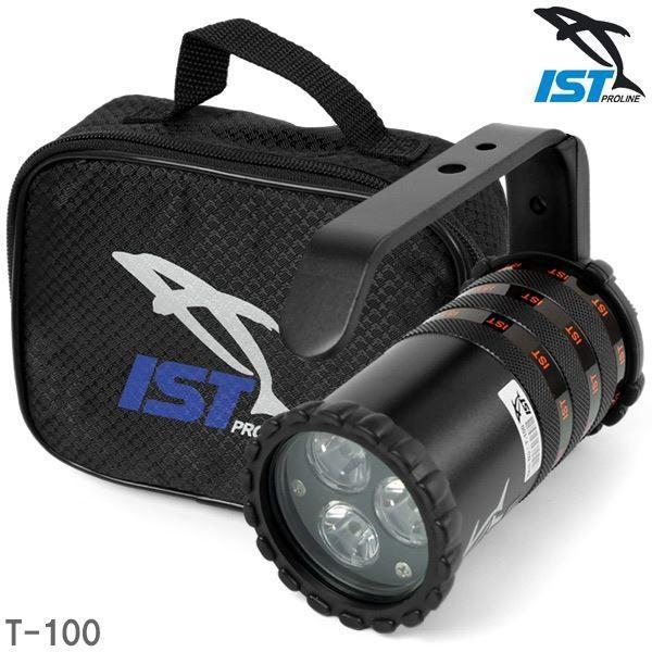 LED ダイビングライト/水中ライト 〔13.5cm×11cm×7cm〕 電池式 スイッチロック付き ハイパワー トーチ 『ISTPROLINE T-100』