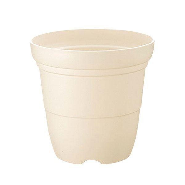 (まとめ) プラスチック製 植木鉢/ポット 〔長鉢 ホワイト 5号〕 ガーデニング 園芸 『カラーバリエ』 〔×60個セット〕