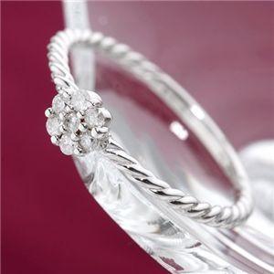 お見舞い K18WGダイヤリング 指輪 19号, カラテックe-shop 833a14d1