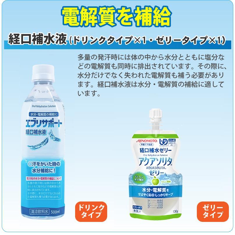 熱中症対策キットDX 経口補水液/涼感タオル/水分補給 safety-japan 05