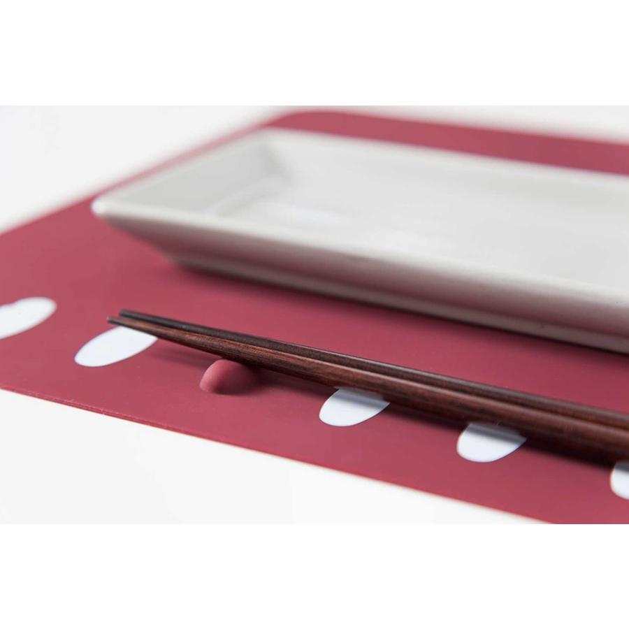 人気ギフト 2021 箸置きランチョンマット 2枚セット シリコン製で、お手入れラクラク。食洗機で洗え畳んでもシワになりません。|safety-toilet|05