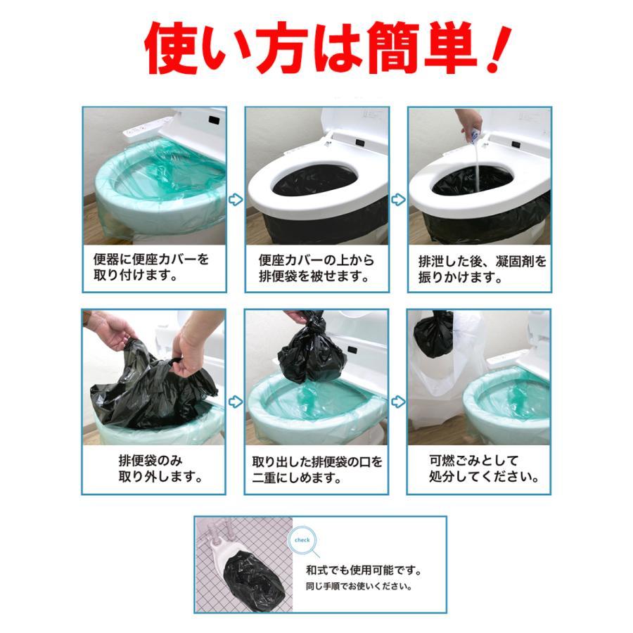 簡易トイレ  SAFETY TOILET family 30回セット【抗菌グレード】【15年保存】【防臭袋付】【便座カバー付】【日本製】 safety-toilet 15