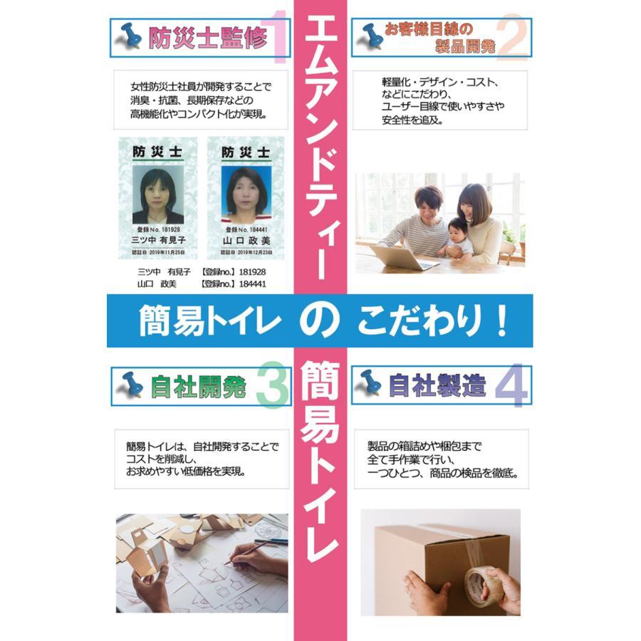 簡易トイレ 非常用トイレ SAFETY TOILET プチ 日本製 5回セット 10年保存 抗菌グレード 消臭 持ち運び袋付き 介護 備蓄 断水 防水パック 防災グッズ|safety-toilet|13