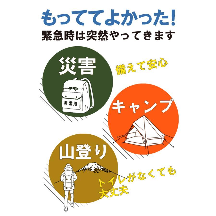 簡易トイレ 非常用トイレ SAFETY TOILET プチ 日本製 5回セット 10年保存 抗菌グレード 消臭 持ち運び袋付き 介護 備蓄 断水 防水パック 防災グッズ|safety-toilet|14