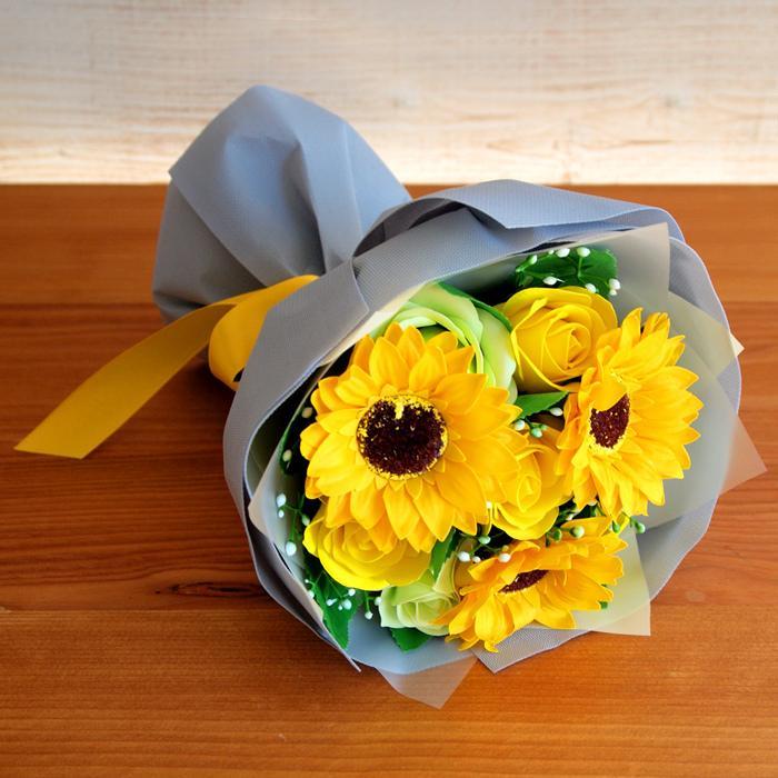 母の日2021 ソープフラワー花束 ブーケ 母の日 プレゼント 花 造花 枯れない ギフト アレンジメント カーネーション フラワーソープ 日時指定OK saika 02