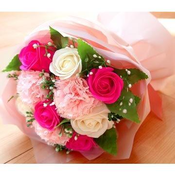 花束 ブーケ ソープフラワー 誕生日 プレゼント バースデー 花 造花 ギフト アレンジメント ひまわり 父の日 薔薇 日時指定OK saika 10