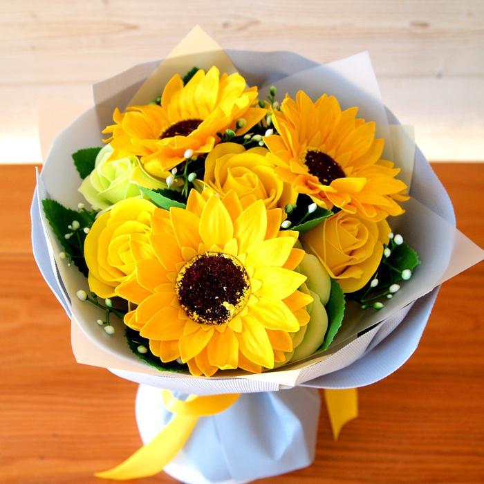 母の日2021 ソープフラワー花束 ブーケ 母の日 プレゼント 花 造花 枯れない ギフト アレンジメント カーネーション フラワーソープ 日時指定OK saika 03