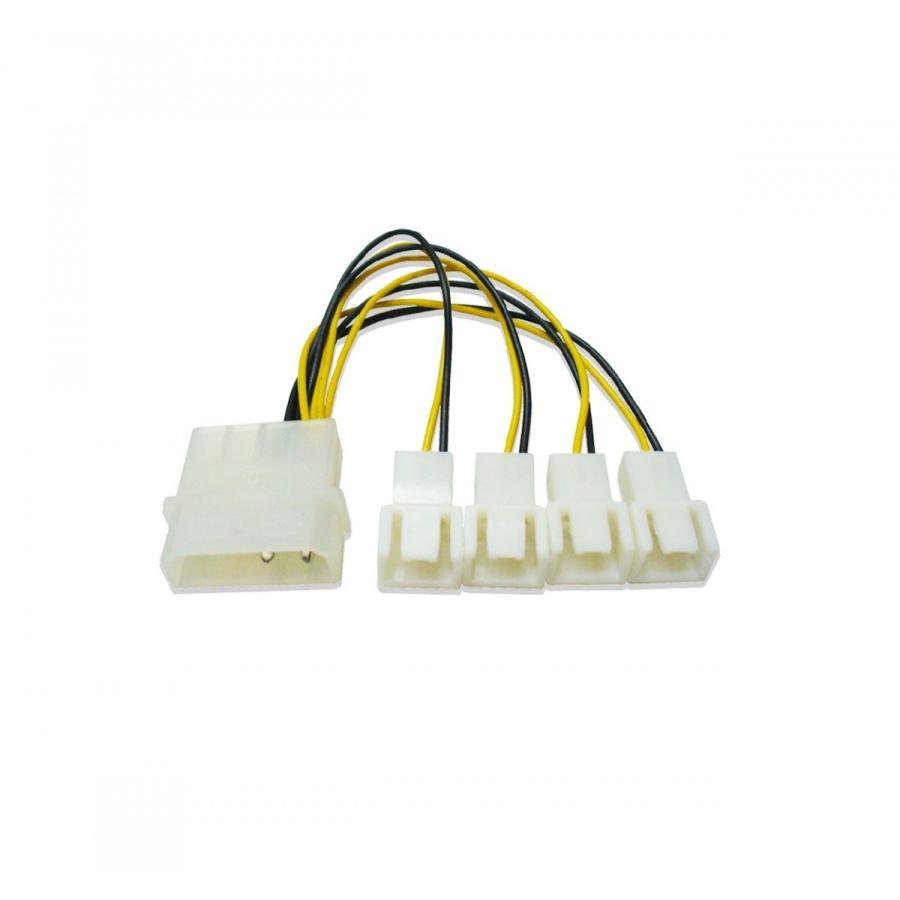 ファン 4分岐電源ケーブル 15cm|saj-directstore