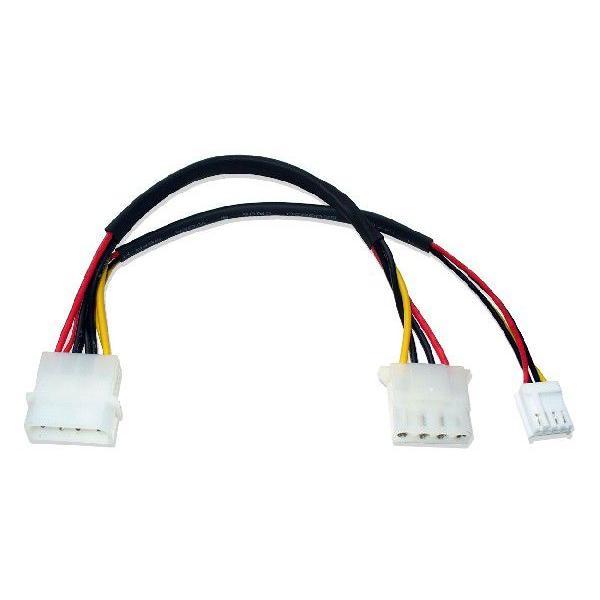 5インチ4ピンメス、3.5インチ用4ピンメス分岐 電源ケーブル saj-directstore