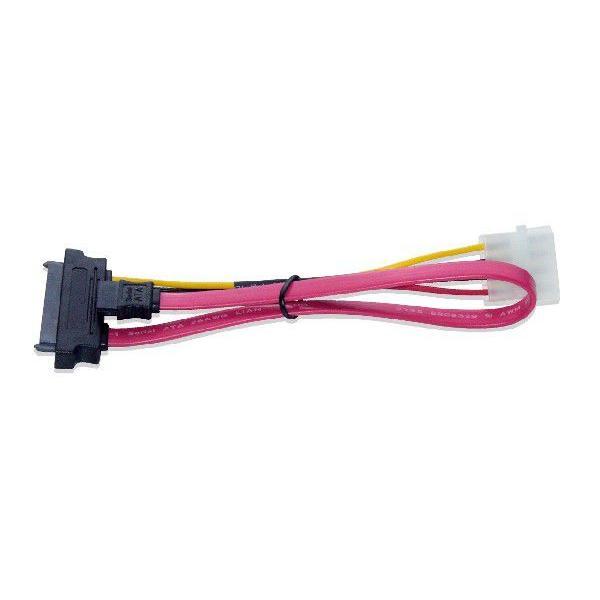 SAS/SATA⇔SATA、5インチ用4ピン電源変換ケーブル 30cm|saj-directstore|03