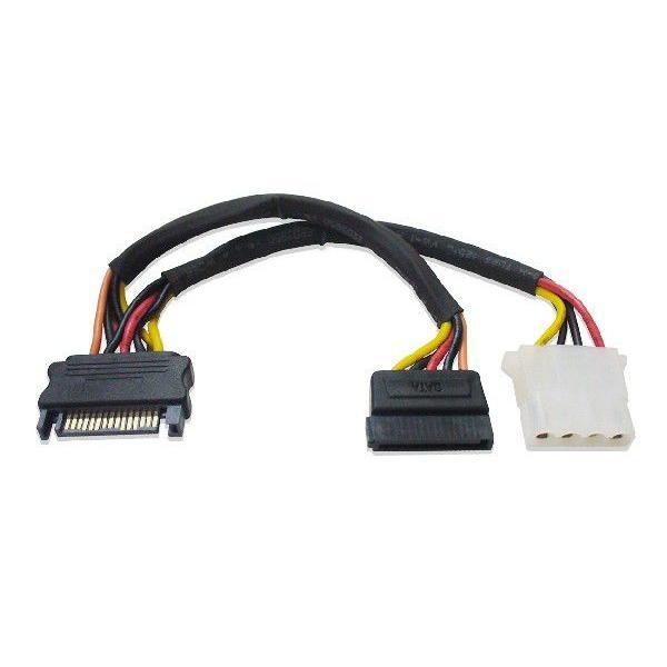 5インチ用4ピンメス、シリアルATA電源 分岐ケーブル SATA III対応|saj-directstore