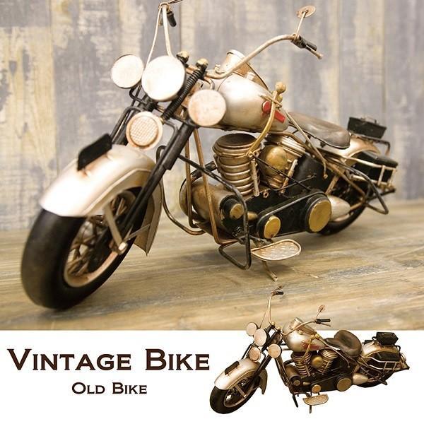 ブリキおもちゃ ハーレー 人気 オブジェ バイク 模型 世田谷ベース ガレージグッズ ヴィンテージ /シルバー