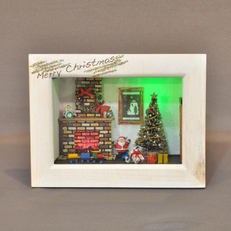 ハッピークリスマス 暖炉の部屋 インフレーム :亀田信子 塗装済完成品 ノンスケール
