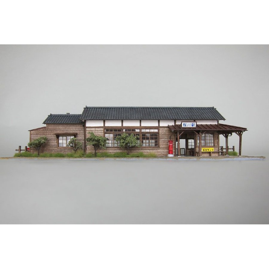 木造駅舎 桜川駅 :匠ジオラマ工芸舎 塗装済完成品 HO(1/80) 1008