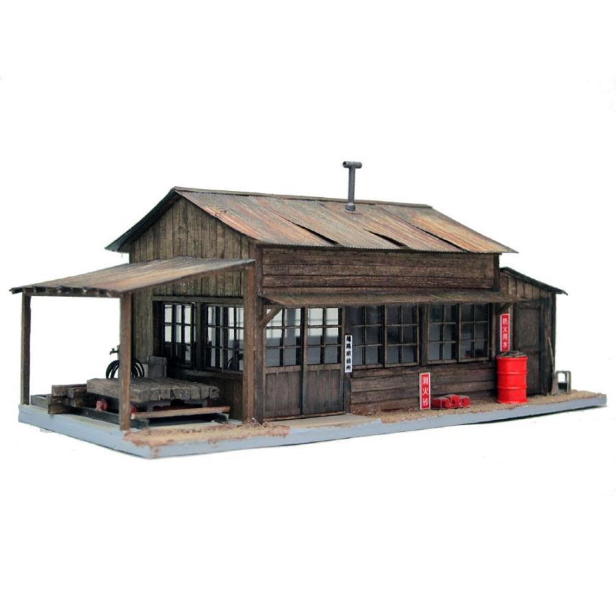 トロッコのある線路班詰所 :匠ジオラマ工芸舎 塗装済完成品 HO(1/80) 1016