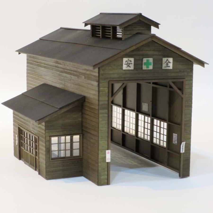 木造単線機関庫 木製羽目板仕様 特別完成品 :Chitetsu Corporation(宮下洋一) 塗装済み完成品 HO(1/80) 99970000003