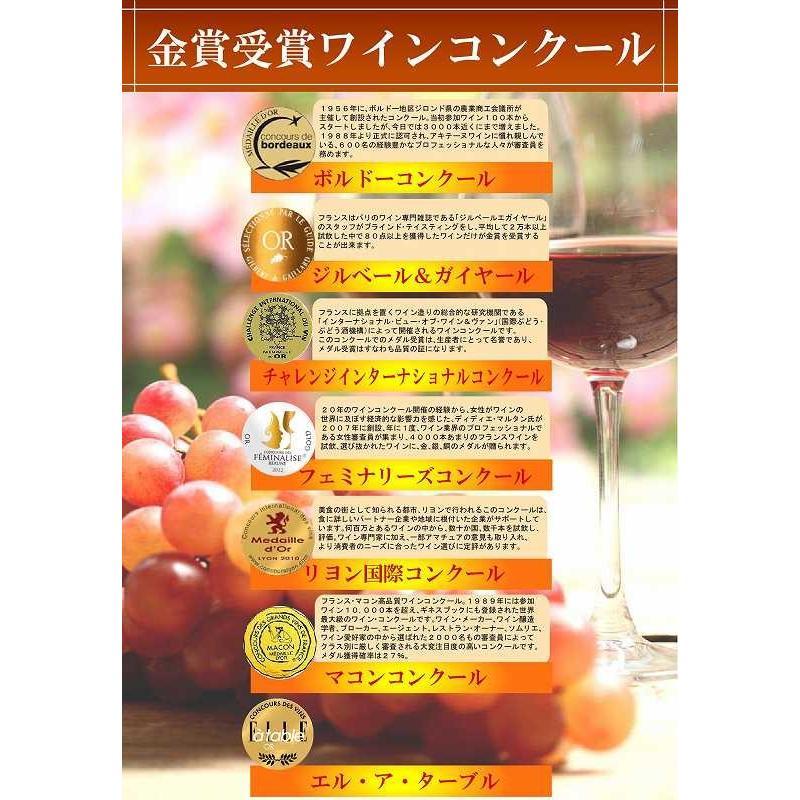 4セット ソムリエ厳選 ALL金賞受賞フランスワイン特集 6本セット(白ワイン金賞1本・赤ワイン金賞5本) 750ml×24本 sake-gets 04