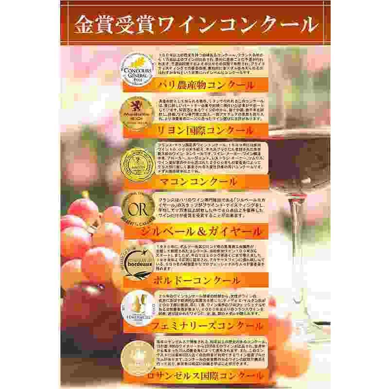 ALLダブル金賞受賞 フランスボルドー赤ワイン6本セット 赤ワインセット ソムリエ厳選 750ml×6本|sake-gets|02