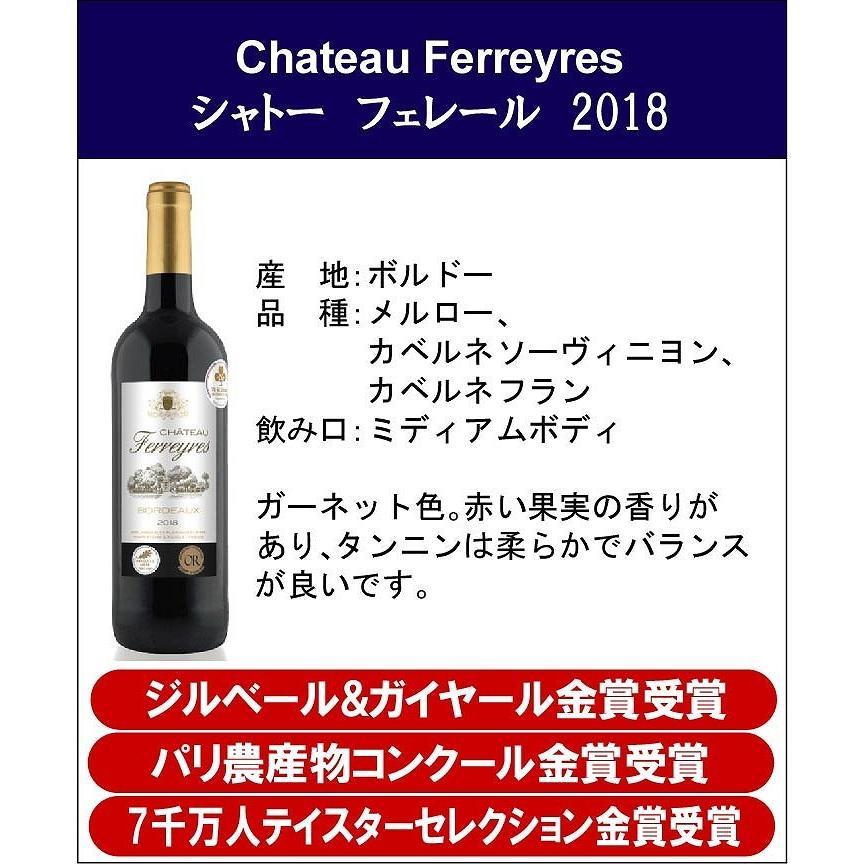 ALLダブル金賞受賞 フランスボルドー赤ワイン6本セット 赤ワインセット ソムリエ厳選 750ml×6本|sake-gets|08