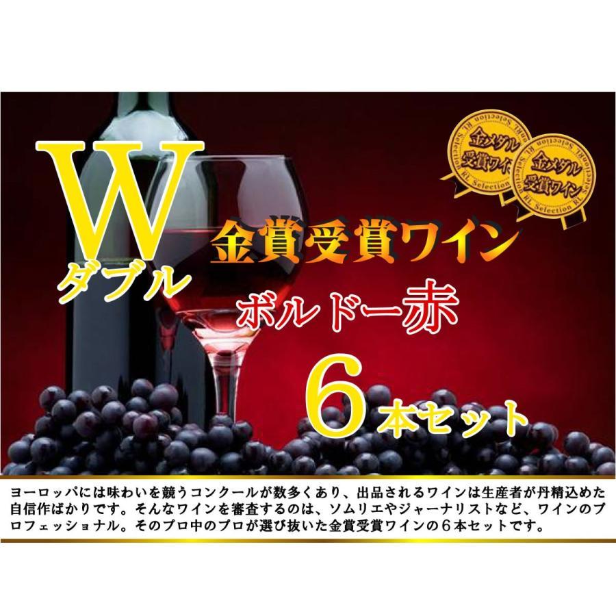 ALLダブル金賞受賞 フランスボルドー赤ワイン6本セット 赤ワインセット ソムリエ厳選 750ml×6本|sake-gets|09