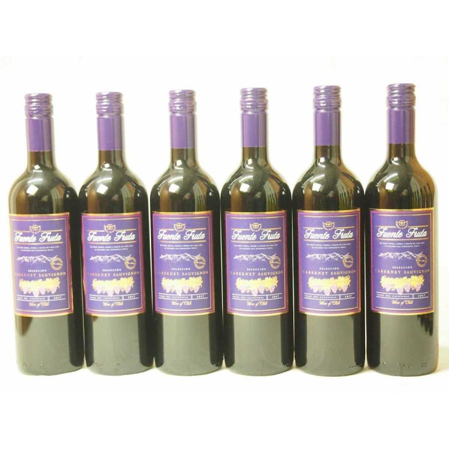 6本セットチリ産赤ワイン フエンテ・フルータ カベルネ  赤(チリ)750ml×6本|sake-gets