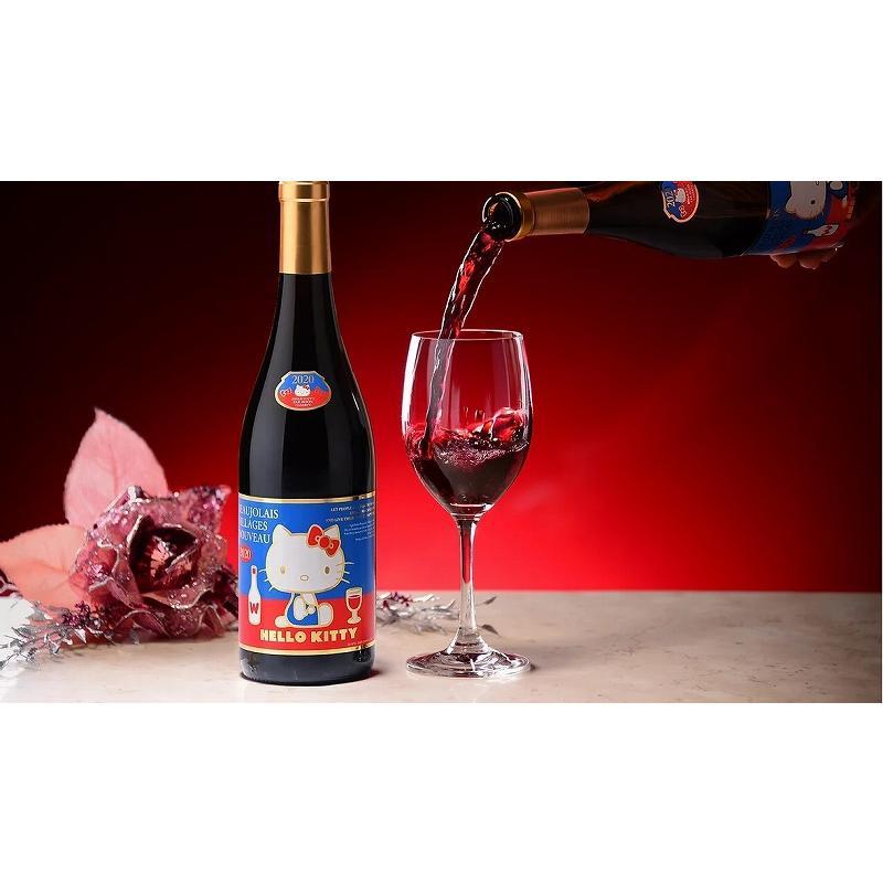 2020年解禁 ラストハローキティー ボージョレ・ヴィラージュ・ヌーヴォー赤ワイン750ml(ボジョレヌーボ)盛田甲州ワイナリー|sake-gets