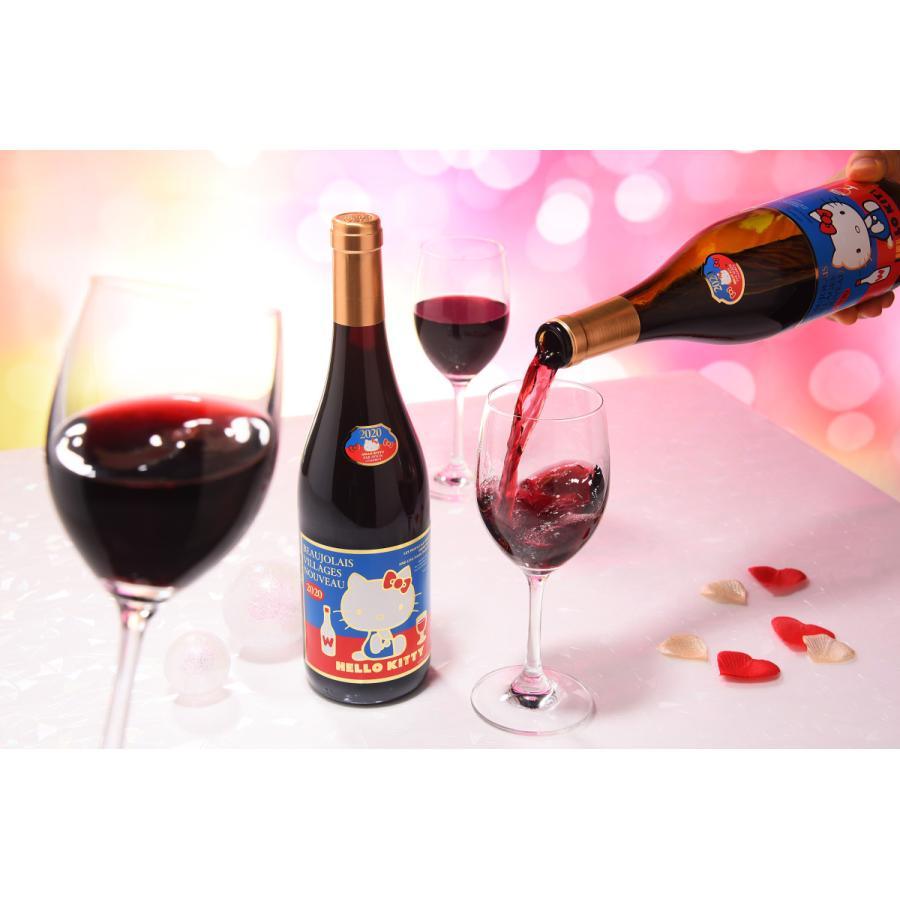 2020年解禁 ラストハローキティー ボージョレ・ヴィラージュ・ヌーヴォー赤ワイン750ml(ボジョレヌーボ)盛田甲州ワイナリー|sake-gets|03