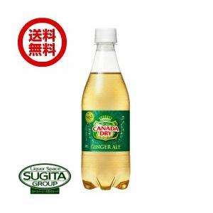 カナダドライ ジンジャーエール (500ml×24本・1ケース) 送料無料  直送 炭酸 ペットボトル|sake-sugita