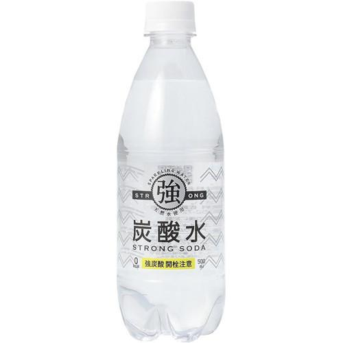 友桝 強炭酸水 500mlペット 1ケース(24本入)|sake-takuhai