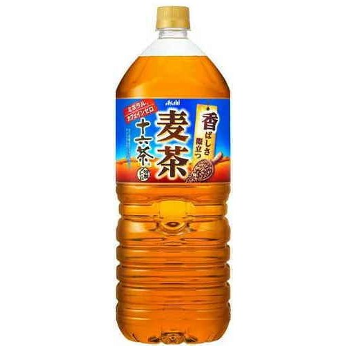 [飲料]2ケースまで同梱可 アサヒ 十六茶 麦茶 2LPET 1ケース6本入り(2000ml 16茶 むぎ茶 いいもの16素材 健茶ブレンド)|sakemakino
