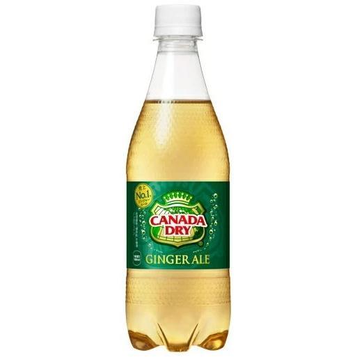 [飲料]2ケースまで同梱可 コカ・コーラ カナダドライ ジンジャーエール 500mlPET 1ケース24本入り(500ml ペット Coca-Cola GINGER ALE)|sakemakino
