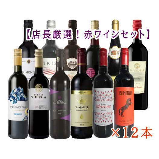 [ワイン]送料無料※ 第44弾 店長厳選スぺシャル赤ワイン12本セット 750ml×12本(赤ワイン12種 ワインセット)|sakemakino