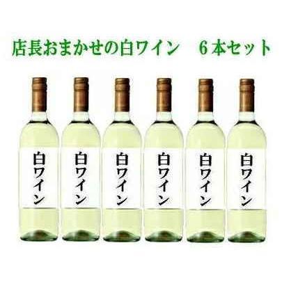 [ワイン]送料無料※福袋☆店長おまかせの白ワイン6本セット (750ml×6本入り)SET(ワインセット) sakemakino