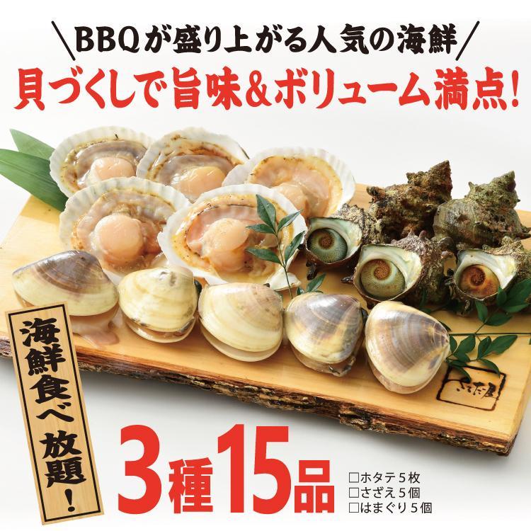 バーベキューセット F 海鮮 BBQセット 3種15品 2〜3人前【冷凍便】|sakudaya|04